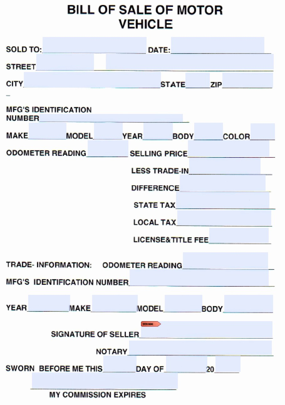 Bill Of Sale Printable Version New Free Cumberland County Tennessee Vehicle Bill Of Sale