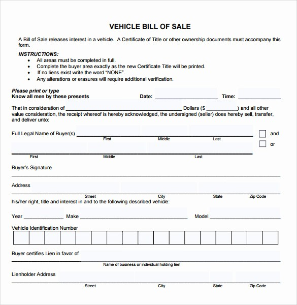 Bill Of Sale Printable Version Unique Printable Vehicle Bill Sale Search Results