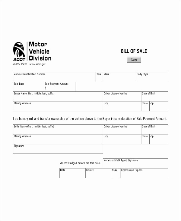 Bill Of Sale Sample Document New Bill Sale for Car Template Pdf Invitation Template