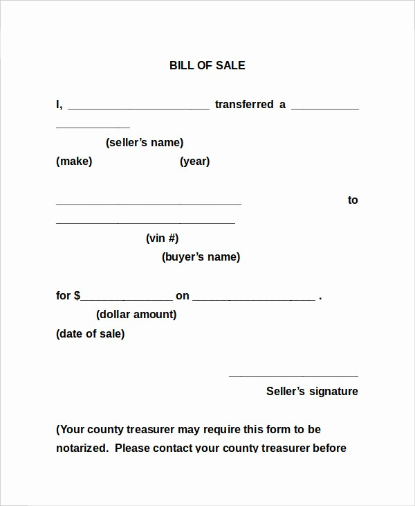 Bill Of Sale Sample form Luxury Bill Sale form 13 Free Word Pdf Documents Download