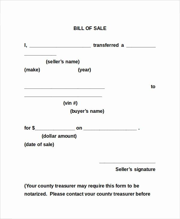 Bill Of Sale Sample form Luxury Bill Sale form 13 Free Word Pdf Documents Download