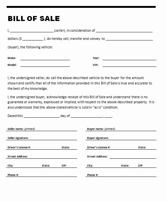 Bill Of Sale Sample Pdf Best Of 7 Bill Of Sale Templates Word Excel Pdf Templates