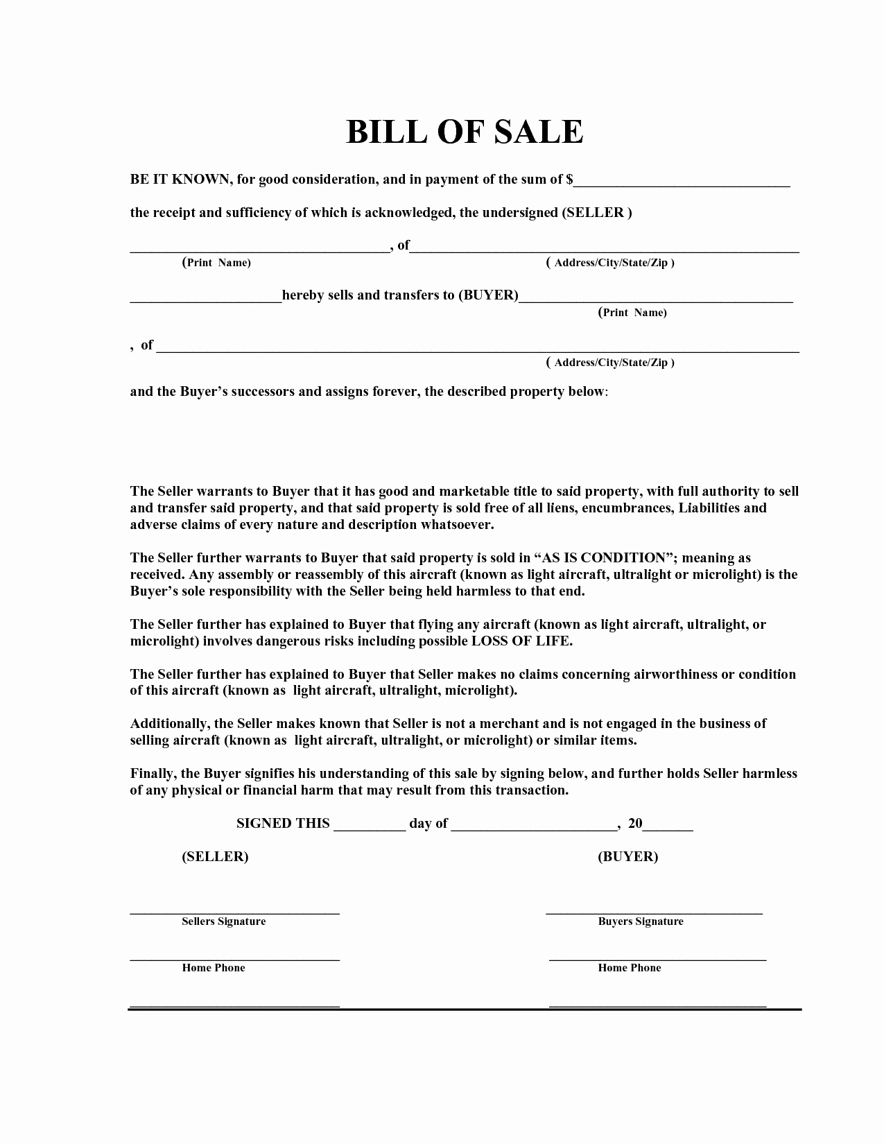Bill Of Sale Sample Pdf Elegant Free Bill Sale Template