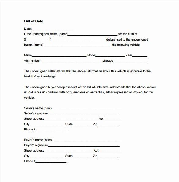 Bill Of Sale Sample Pdf New 8 Sales Receipt Templates Doc Pdf