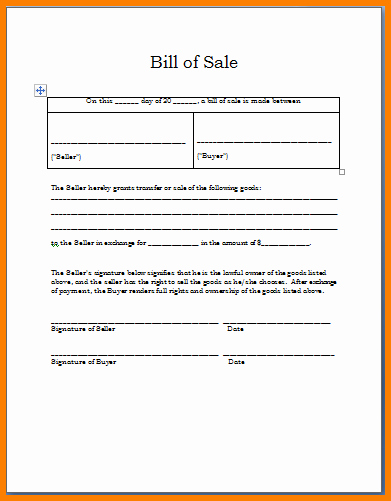 Bill Of Sale Template Download Beautiful Bill Invoice In A Restaurant