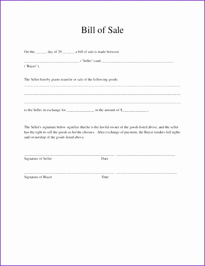 Bill Of Sale Template Ga Lovely 15 Bill Of Sale Template Ga
