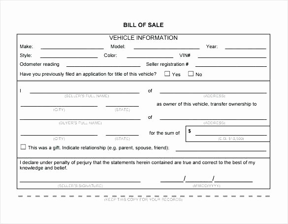 Bill Of Sale Template Ga Lovely Simple Bill Sale Template Simple Bill Sale for