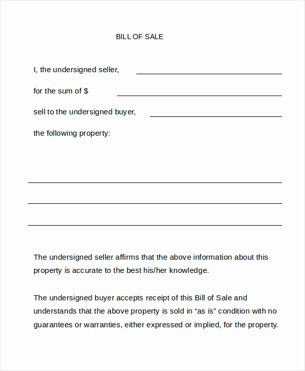 Bill Of Sale Texas Template Lovely Bill Sale form 13 Free Word Pdf Documents Download