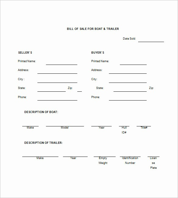 Bill Of Sale Trailer Texas Beautiful Trailer Bill Of Sale – 8 Free Sample Example format