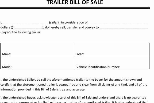 Bill Of Sale Trailer Texas Lovely 248 Bill Of Sale form Free Download
