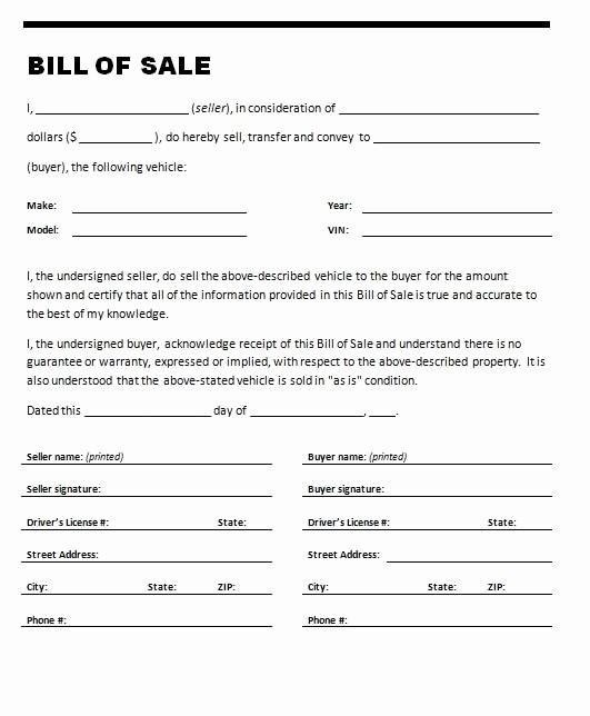Bill Of Sale Trailer Texas Lovely Printable Sample Printable Bill Of Sale for Travel Trailer