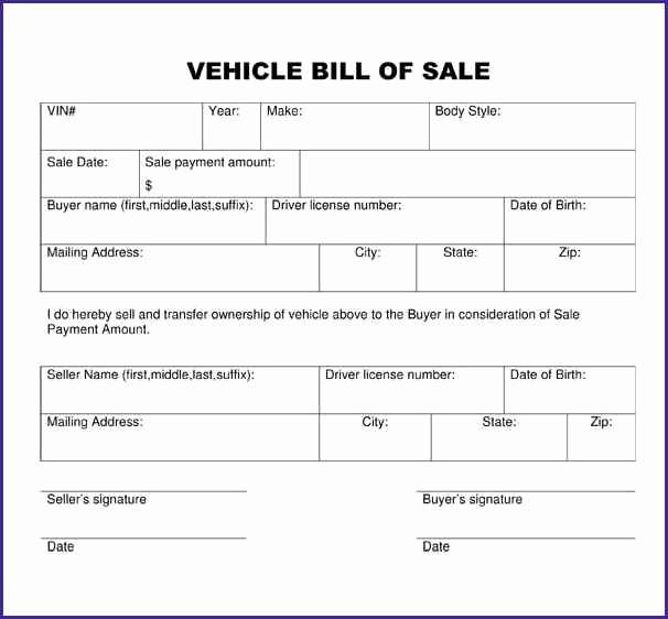 Bill Of Sale Trailer Texas Luxury Trailer Bill Sale Template