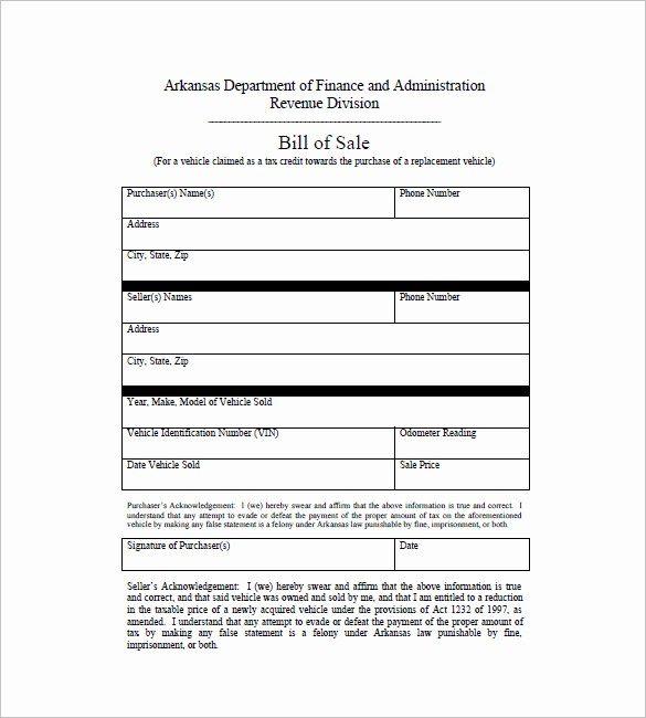Bill Of Sale Used Vehicle Best Of Car Bill Of Sale – 10 Free Sample Example format