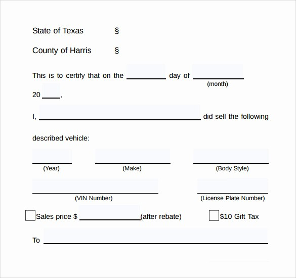Bill Of Sale Used Vehicle New 7 Used Car Bill Of Sale Templates Download for Free