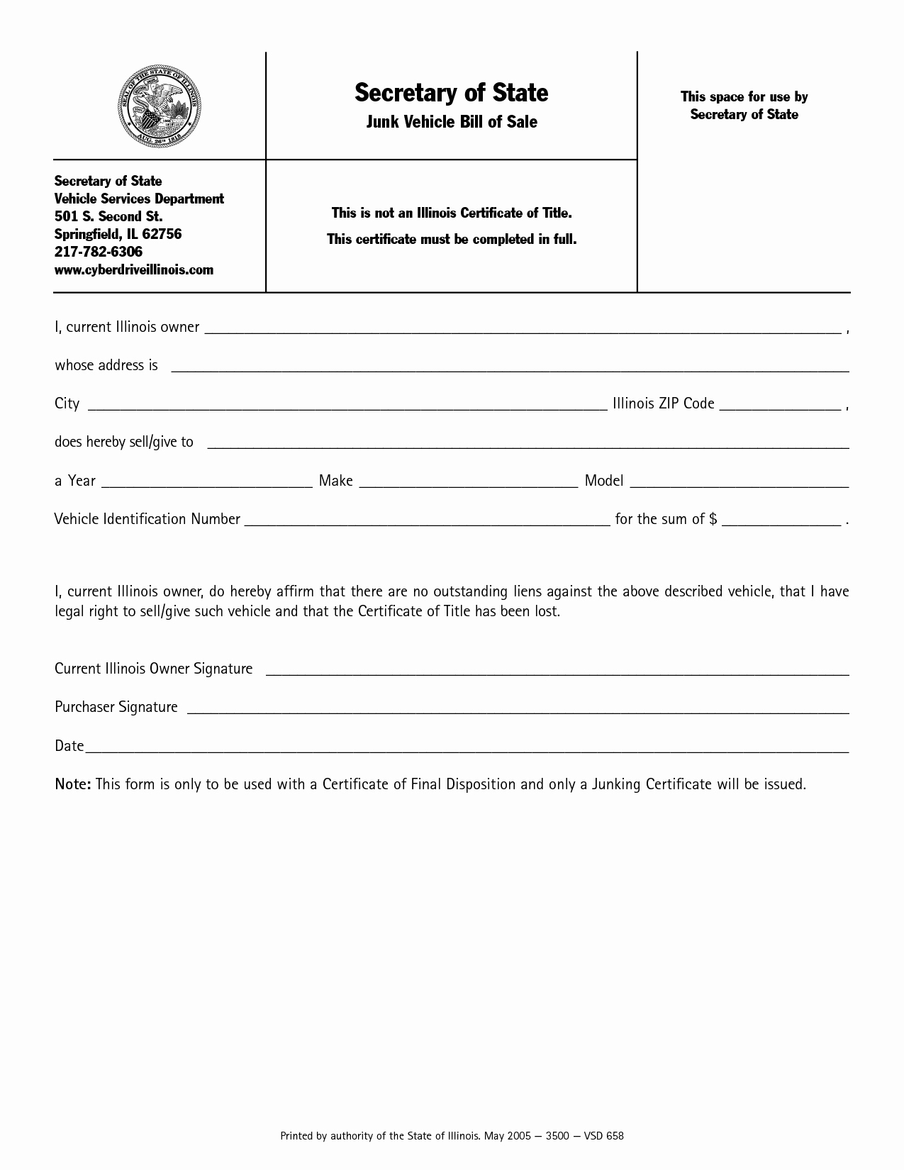 Bill Of Sale Vehicle Illinois Awesome Best S Of Vehicle Bill Sale Pdf Used Car Bill Of