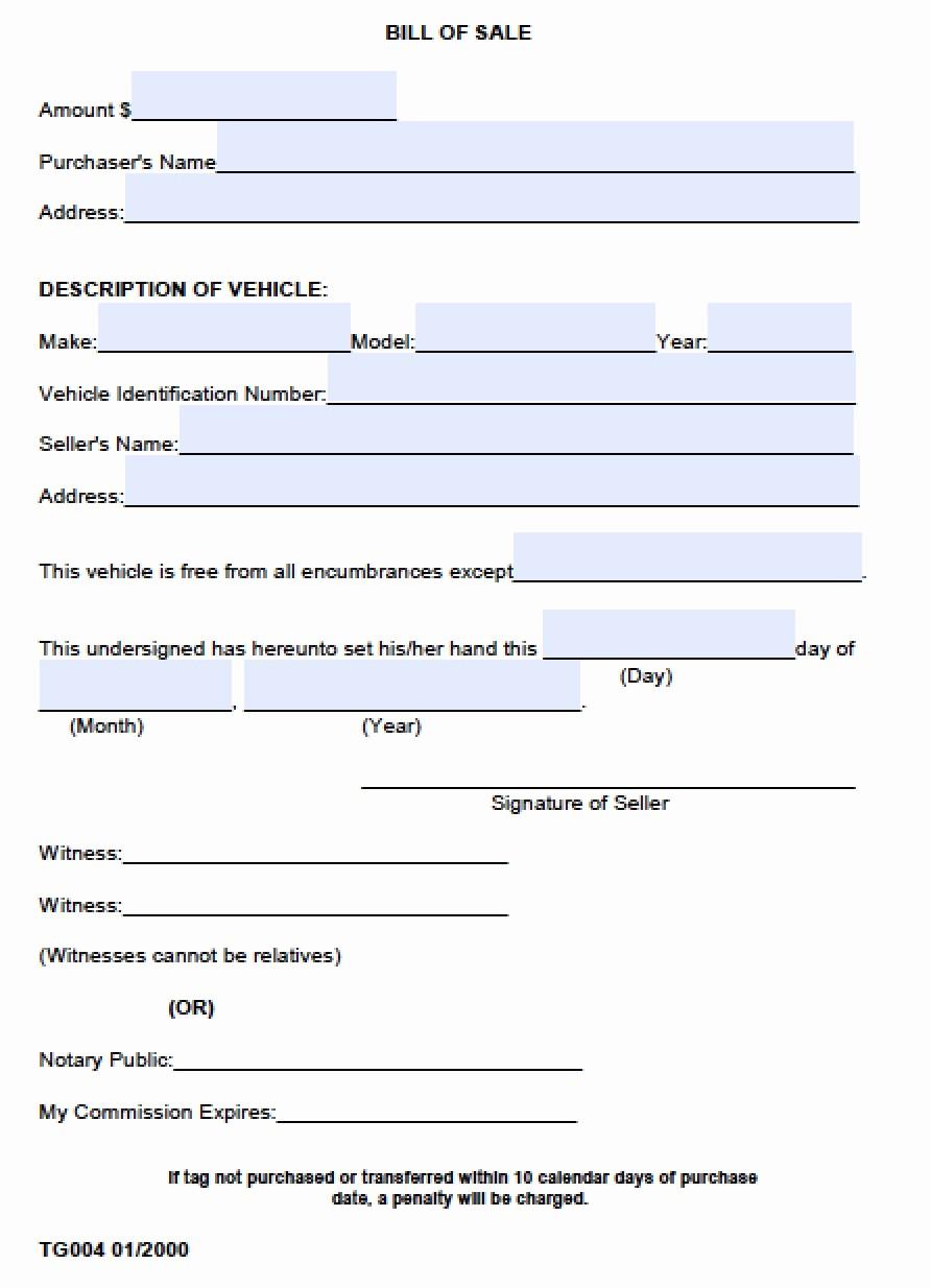 Bill Of Sale Vehicle Pdf Fresh Free Madison County Alabama Bill Of Sale form