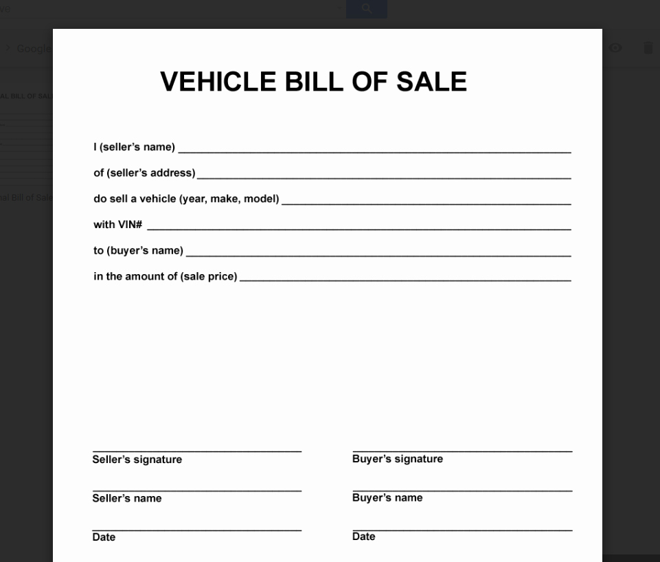 Bill Of Sale Vehicle Pdf New Deeauvil Freebie Friday Simple Free Bill Of Sale