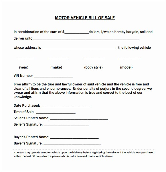 Bill Of Sale Vehicle Texas Elegant 15 Bill Of Sale for Car In Texas Proposal Letter