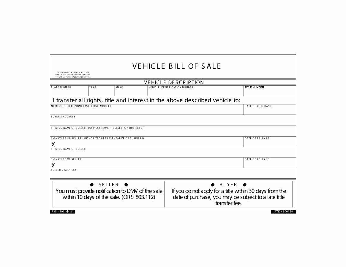 Bill Of Sales for Cars Awesome 45 Fee Printable Bill Of Sale Templates Car Boat Gun