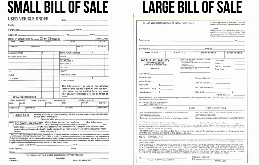 Bill Sell for A Car Awesome Car Bill Sale Used
