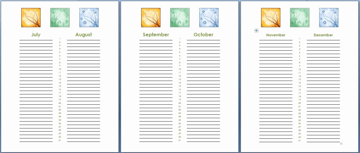 Birthday and Anniversary Calendar Template Beautiful Birthday and Anniversary Calendar Template