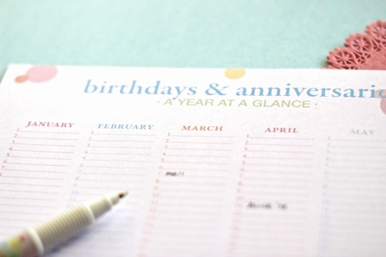 Birthday and Anniversary Calendar Template Beautiful Free Birthday Calendar Printable Printables