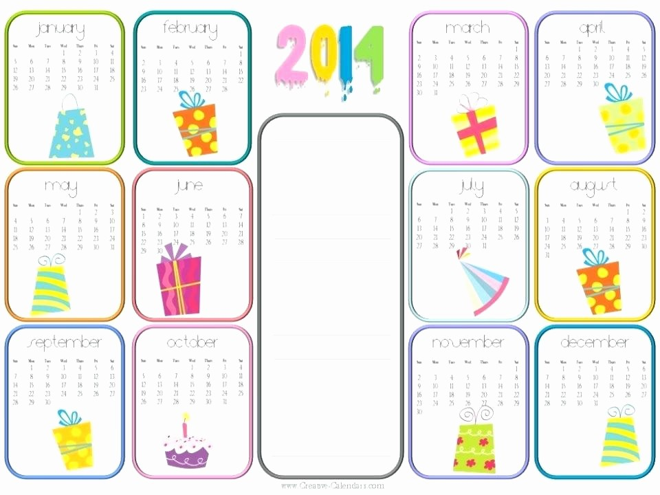 Birthday and Anniversary Calendar Template Elegant Perpetual Birthday Calendar Template for the Months May
