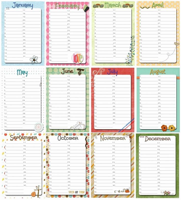 Birthday and Anniversary Calendar Template Inspirational Family Birthday Calendar Printable Free