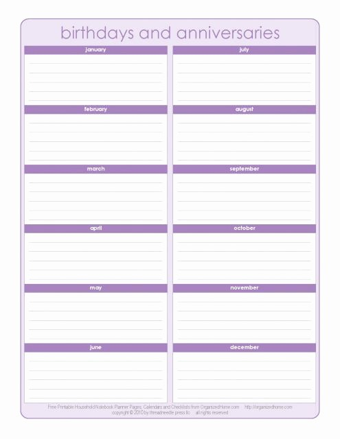 Birthday and Anniversary Calendar Template Inspirational Never for A Birthday or Anniversary Again with This