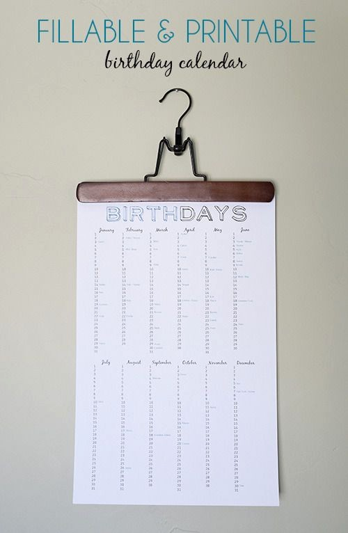 Birthday and Anniversary Calendar Template New 302 Best Images About Templates On Pinterest