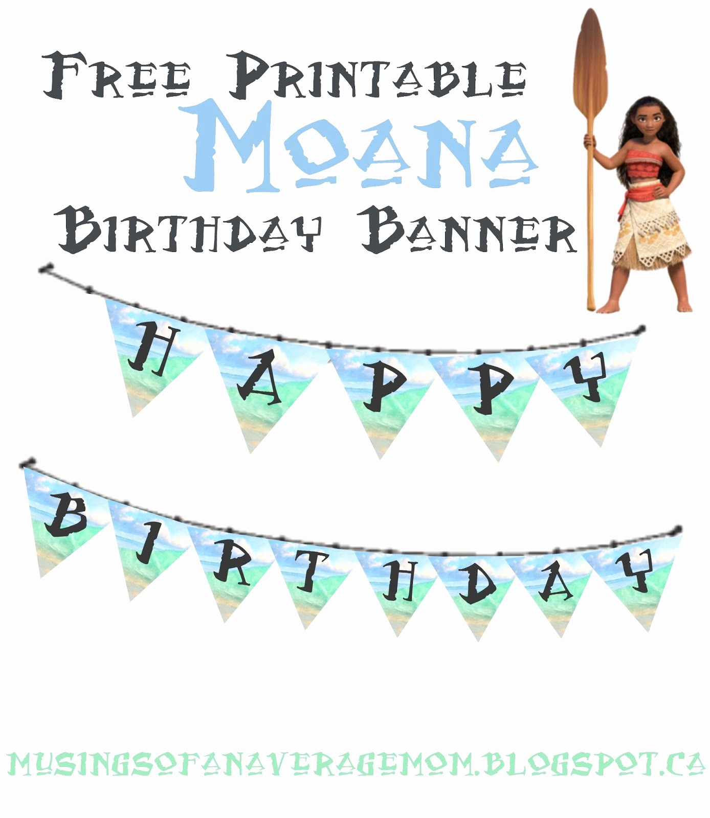 Birthday Banner Maker Online Free Awesome Musings Of An Average Mom Moana Birthday Banner