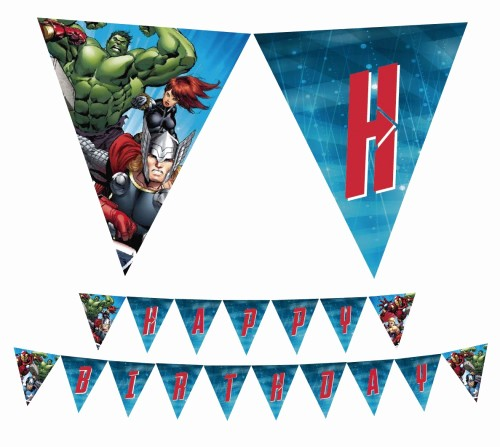 Birthday Banner Maker Online Free Beautiful Avengers Printable Happy Birthday Party Banner