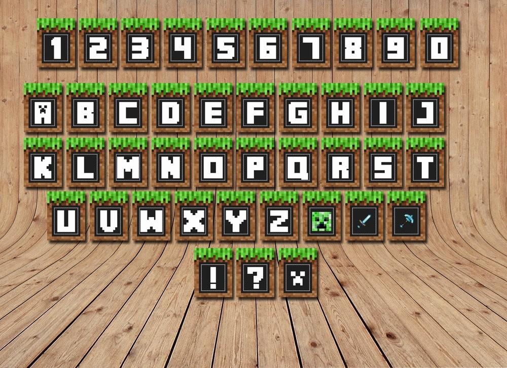 Birthday Banner Maker Online Free Best Of Minecraft Banners Printable Alphabet