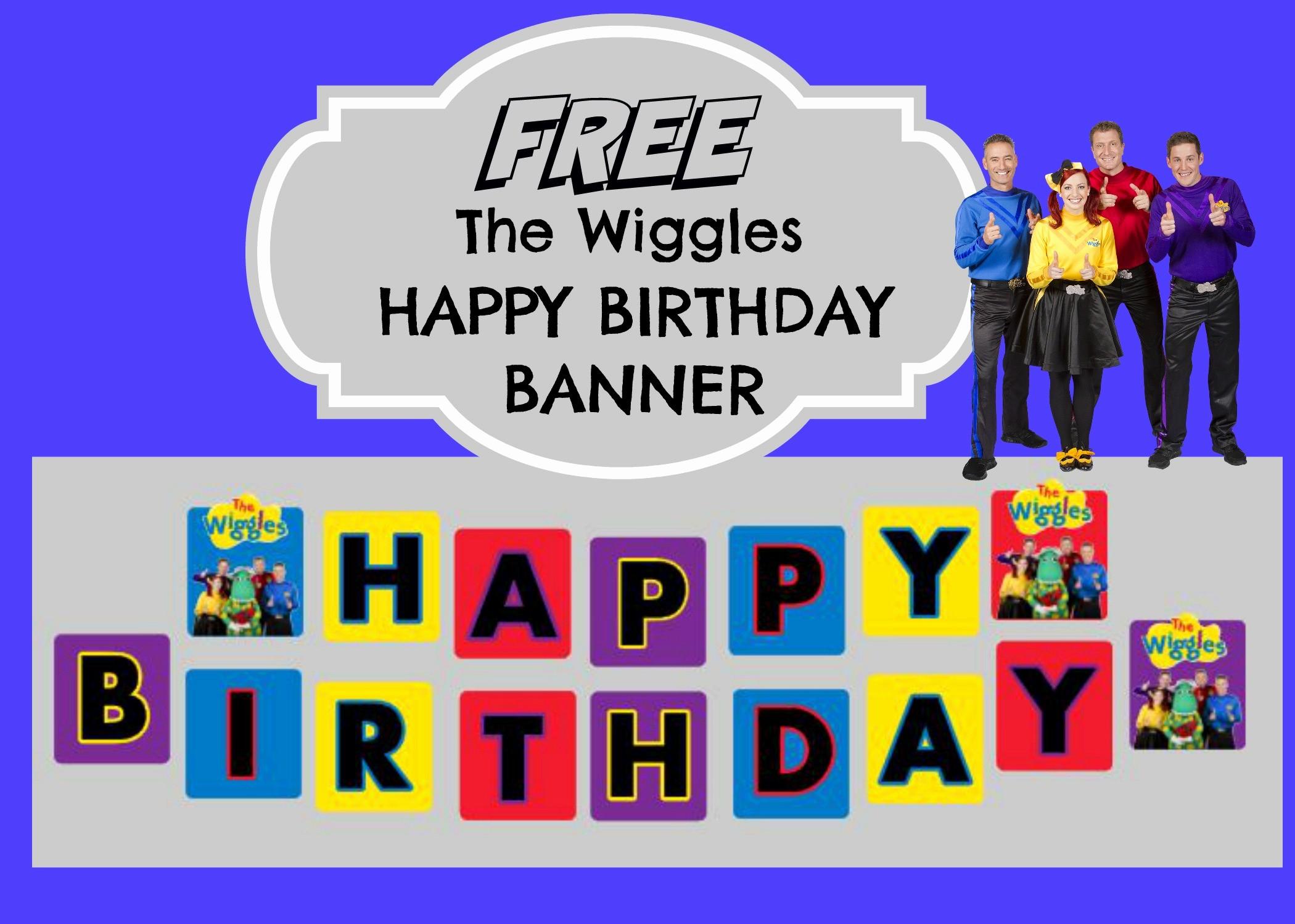 Birthday Banner Maker Online Free Elegant the Wiggles Happy Birthday Banner
