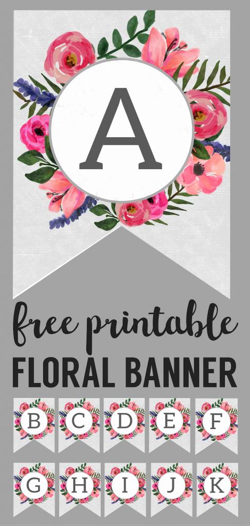 Birthday Banner Maker Online Free Lovely Floral Alphabet Banner Letters Free Printable