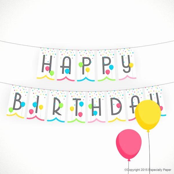 Birthday Banner Maker Online Free Luxury Printable Birthday Banner Happy Birthday with Balloons In