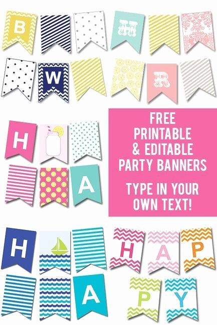 Birthday Banner Maker Online Free Unique Free Printable & Editable Party Banners