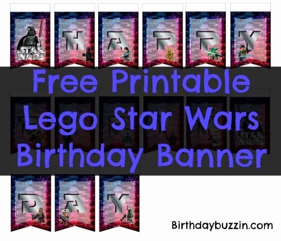 Birthday Banner Maker Online Free Unique Free Printable Lego Star Wars Birthday Banner