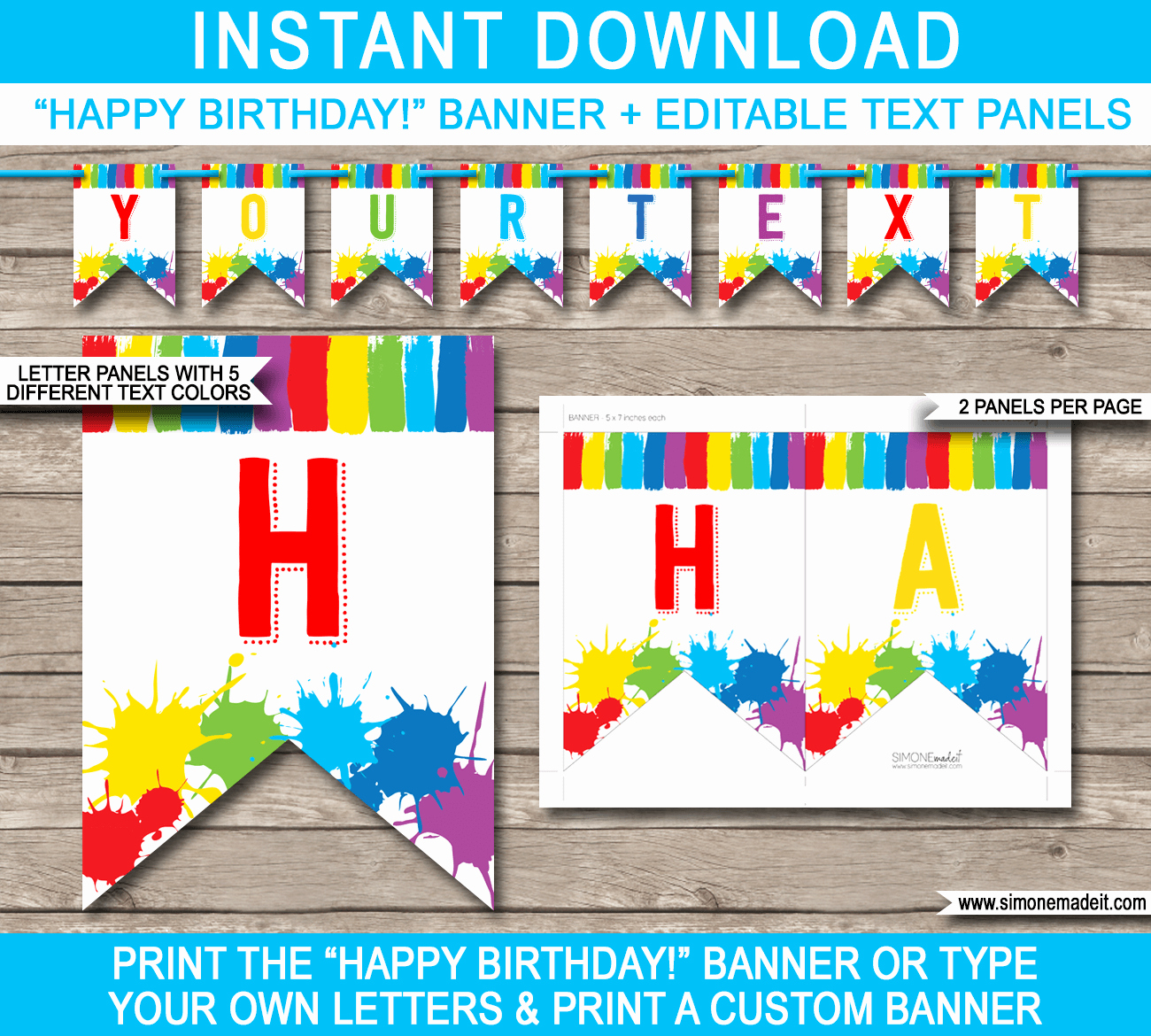 Birthday Banner Templates Free Download Awesome Art Party Banner Template Painting