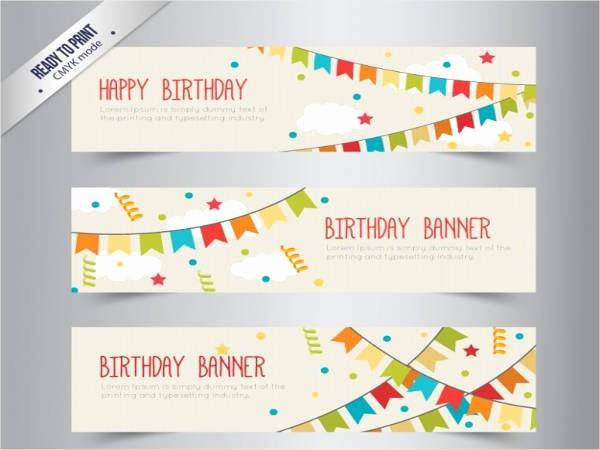 Birthday Banner Templates Free Download Beautiful 9 Free Banner Templates Free Psd Ai Vector Eps