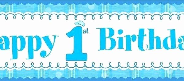 Birthday Banner Templates Free Download Fresh 1st Birthday Banner Template Free Download