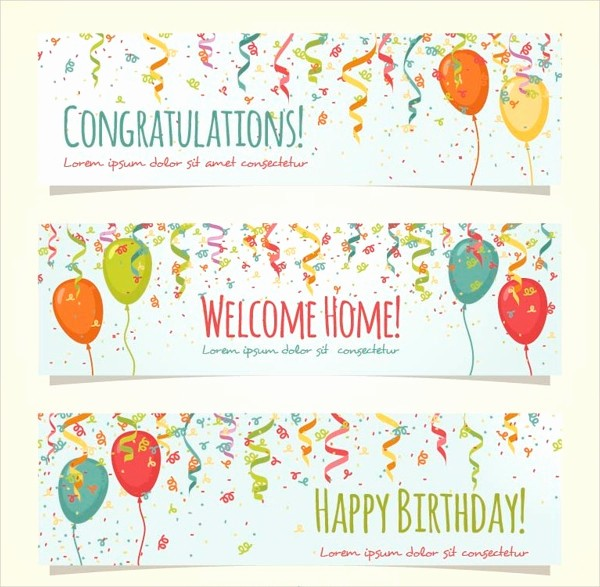 Birthday Banner Templates Free Download Fresh 23 Happy Birthday Banners Free Psd Vector Ai Eps