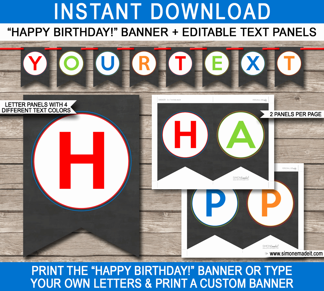Birthday Banner Templates Free Download Fresh Chalkboard Birthday Party Banner Template