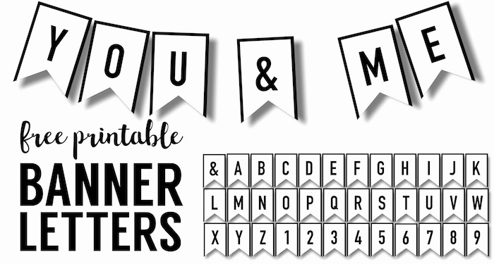 Birthday Banner Templates Free Download Inspirational Banner Templates Free Printable Abc Letters Paper Trail