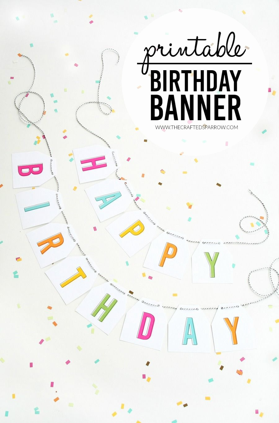 Birthday Banner Templates Free Download New Free Printable Birthday Banner