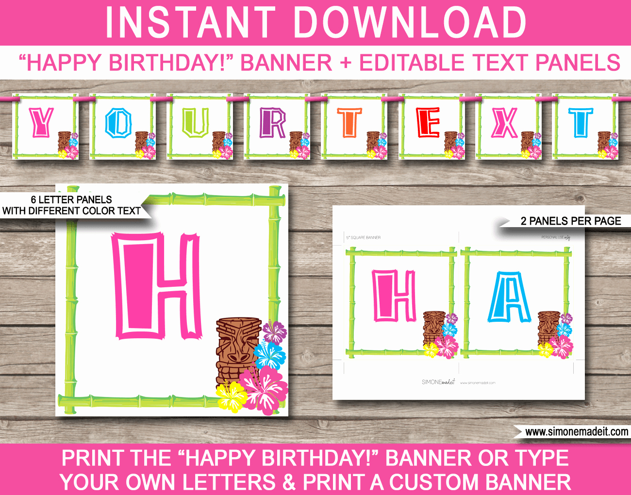 Birthday Banner Templates Free Download New Luau Party Banner Template