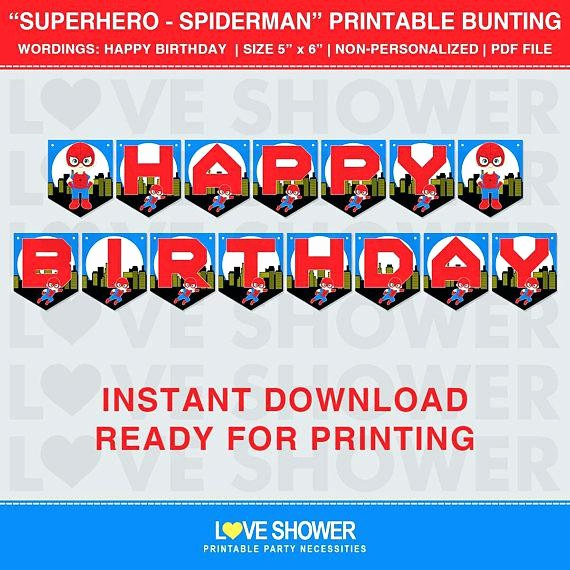 Birthday Banner Templates Free Download New Printable Package Spider Man Birthday Party Spiderman