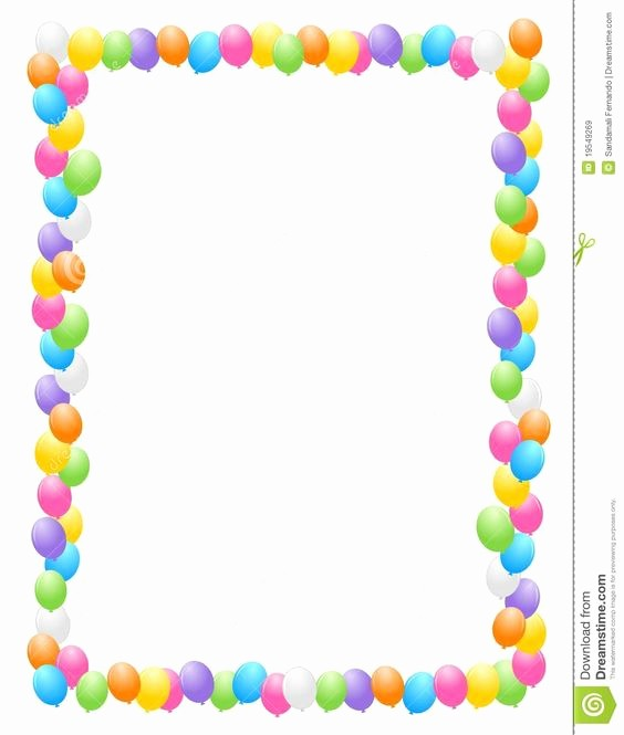 Birthday Borders for Microsoft Word Awesome Baby Page Borders In Word Google Search