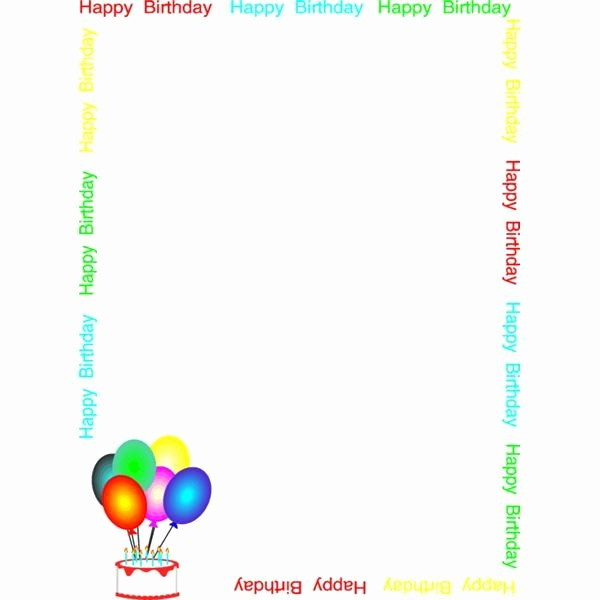 Birthday Borders for Microsoft Word Awesome Handpicked 10 Cool Borders for Birthday Invitations and