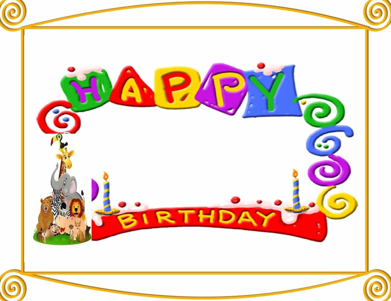 Birthday Borders for Microsoft Word Awesome Happy Birthday Borders Microsoft Word – Best Happy